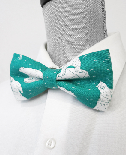 Dancing Polar Bear Bow Tie