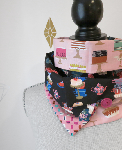 Tea Time Patchwork Infinity Scarf