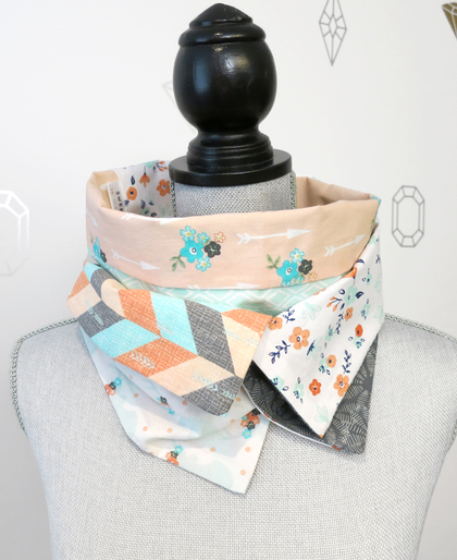 Nature Patchwork Infinity Scarf