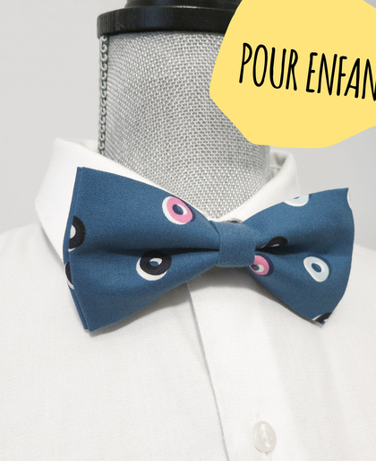 KIDS Blue Doughnuts Bow Tie