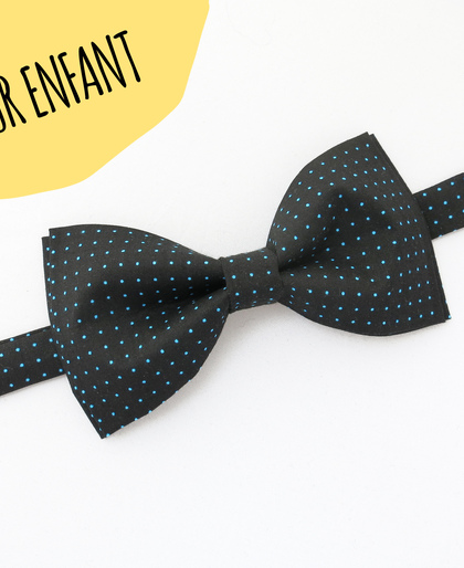 KIDS Black Polka Dots Bow Tie
