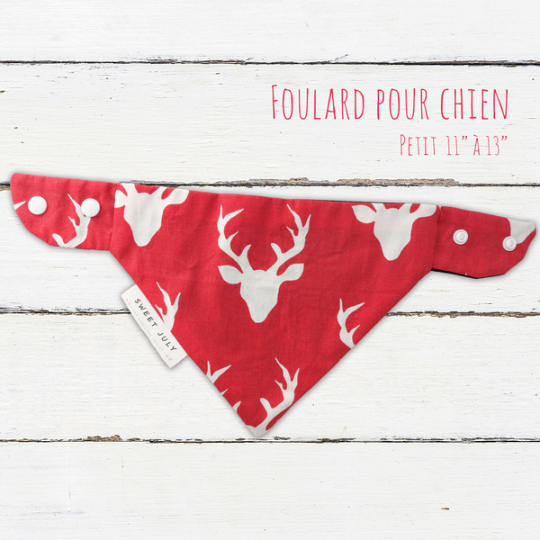 Deer Design Dog Bandana