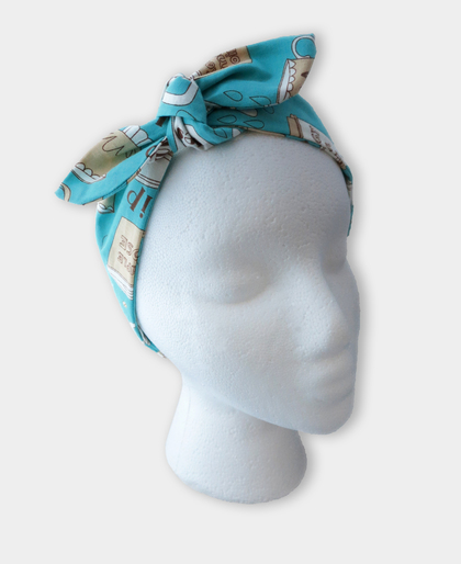 Coffee Lover Tie Knot Headband